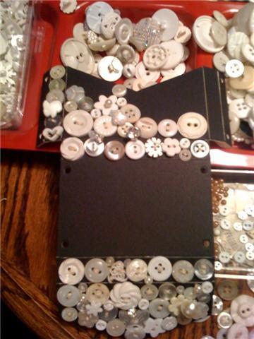 Beginning of Button Biz Card Holder