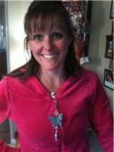 Rene with Karen's butterfly die necklace