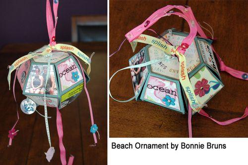 Beach Ornament using pop up ball die.