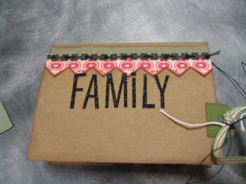 Front side of Family Tree pop up card.