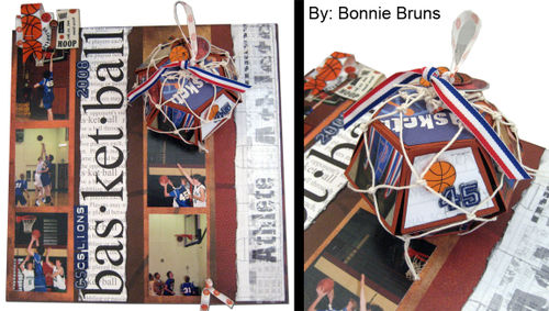 Pop Up Basketball Page created for Karen Burniston.