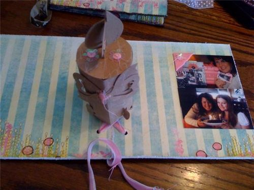 Inside of Candle Pop Up Card